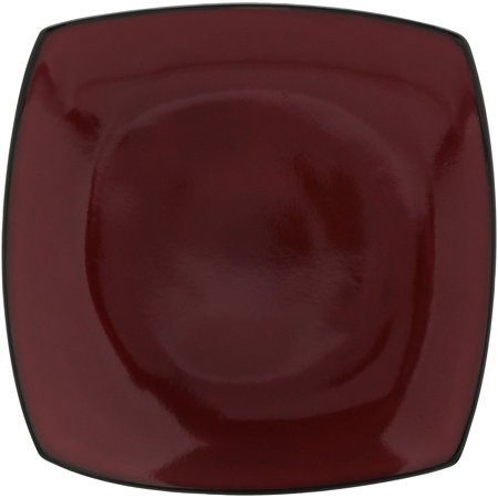 "Best Gibson Home Soho Lounge 10.5"" Square Dinner Plates, Red, Set of 8 deal"