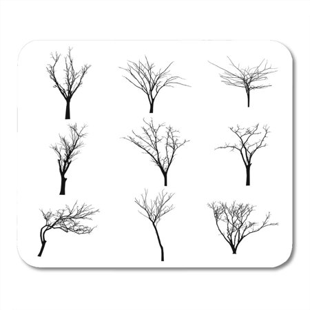 SIDONKU Halloween Branch Black Silhouette of Bare Tree Shadow Winter Mousepad Mouse Pad Mouse Mat 9x10 inch](Black Tree Branches Halloween)