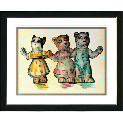 Studio Works Modern ''Cat Family'' Framed Art