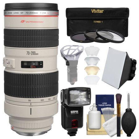 canon ef 70 200mm f 2 8l usm zoom lens with flash. Black Bedroom Furniture Sets. Home Design Ideas