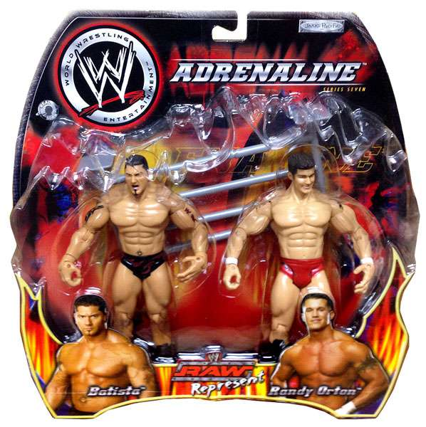Raw Represent Batista & Randy Orton Action Figure 2-Pack WWE Wrestling