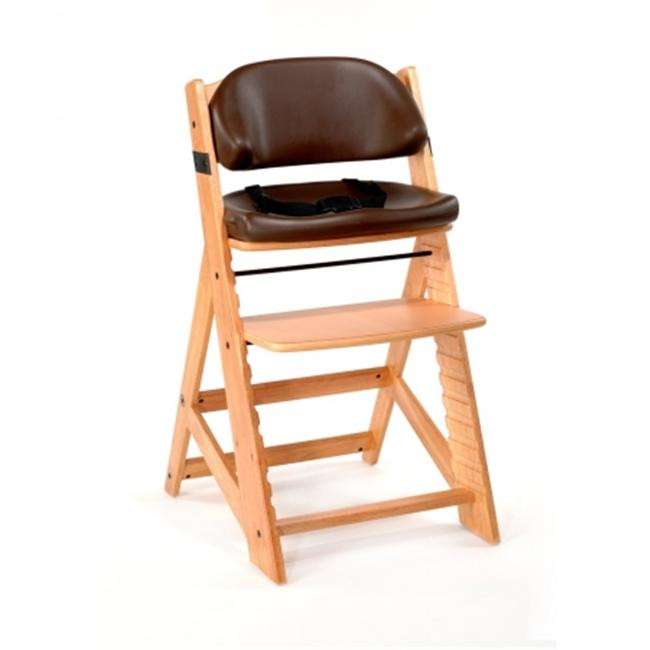 Keekaroo 0055205KR-0002 Height Right KIDS Chair Natural with Chocolate Comfort Cushions