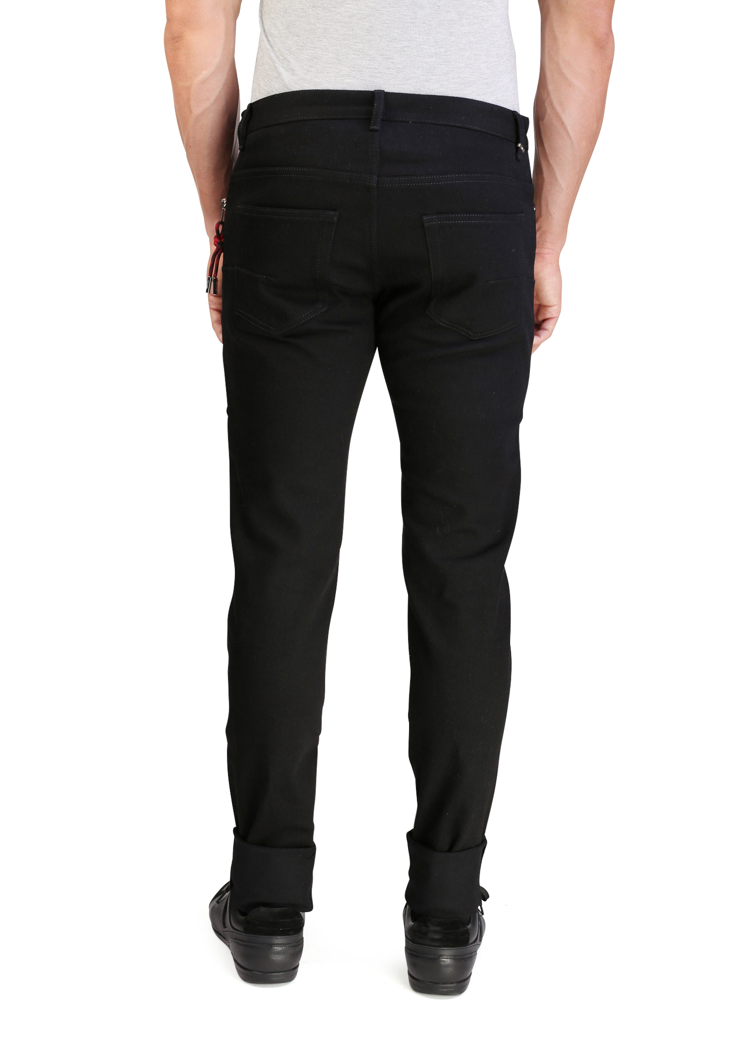 e9c0c613 Dior Homme Men's Men's Zip and Cord Stretch Cotton Jeans Black