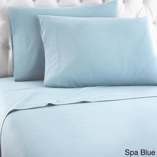 Micro Flannel Solid Sheet Sets California King - Spa Blue