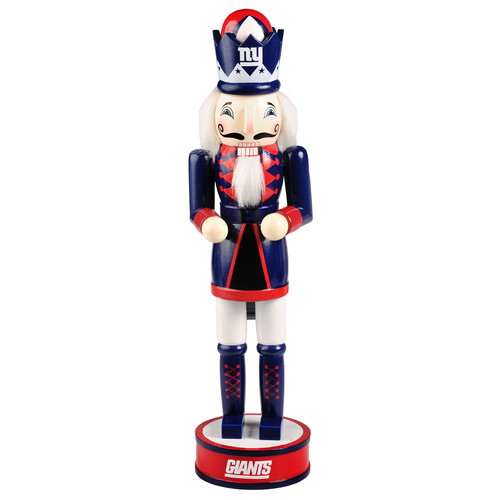 "Forever Collectibles NFL 14"" Wooden Nutcracker, New York Giants"
