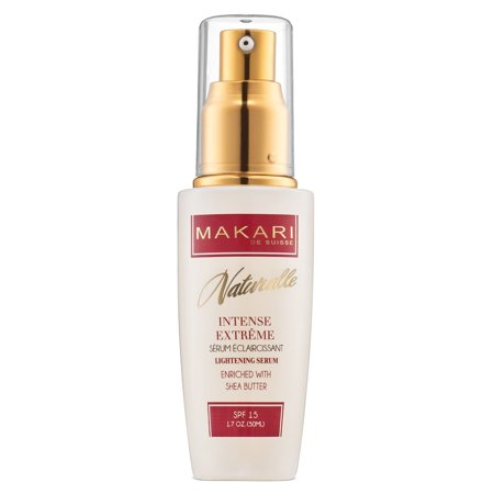 Makari Naturalle Intense Extreme Skin Lightening Serum 1.7oz Moisturizing & Toning Face Serum with Shea Butter & SPF 15 Anti-Aging & Whitening Treatment for Dark Marks, Acne Scars & Wrinkles ()