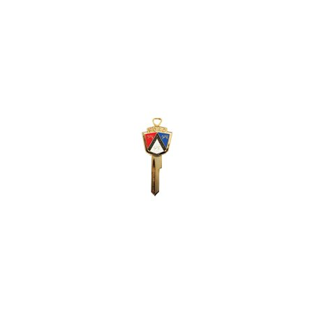 MACs Auto Parts Premier  Products 66-31552 - Ford Thunderbird Anniversary Key Blank, Gold With Red White And Blue Ford (1989 1997 Ford Thunderbird Auto)