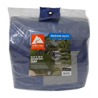Ozark Trail Weather Resistant Medium-Duty Tarp, 16' x 30'