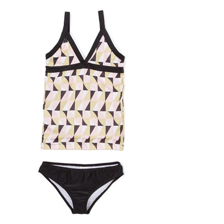 60s Mod Girl (Azul Girls Black Pink Geometric Mod World 2 Pc Tankini Swimsuit 7 )