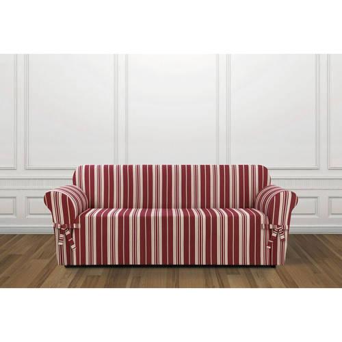 Sure Fit South Hampton Stripe 1-Piece Sofa Slipcover