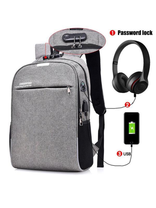 Meigar Unisex Business School Backpack Laptop Shoulder Bag Rucksack Anti-Thief USB Charging Backpack