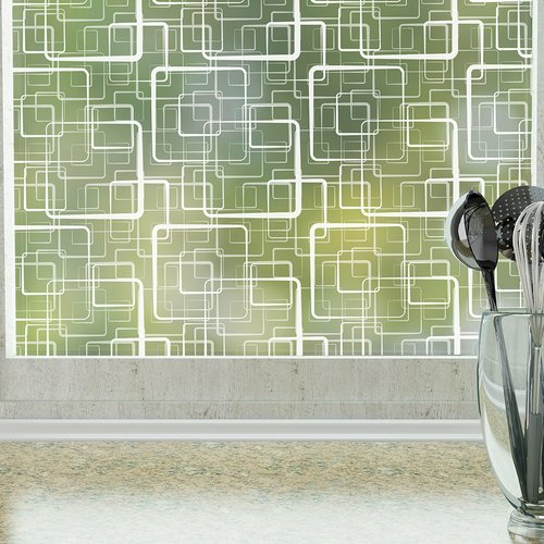Stick Pretty Retro Squares Privacy Window Film
