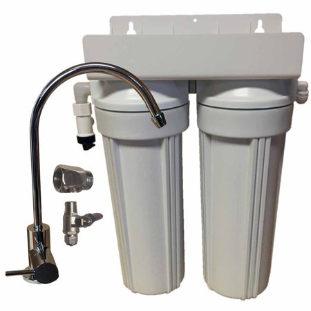2 Stage 10-inch Drinking Water Filter for Fluoride, Arsenic, & Heavy Metal Removal (Arsenic Removal Filter)