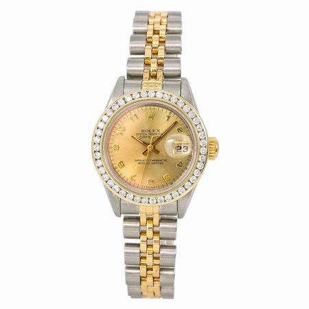 Pre-Owned Rolex Datejust 69173 Steel Women Watch (Certified Authentic & Warranty)