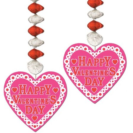 Valentine Danglers Party Accessory 1 count - Valentine Accessories