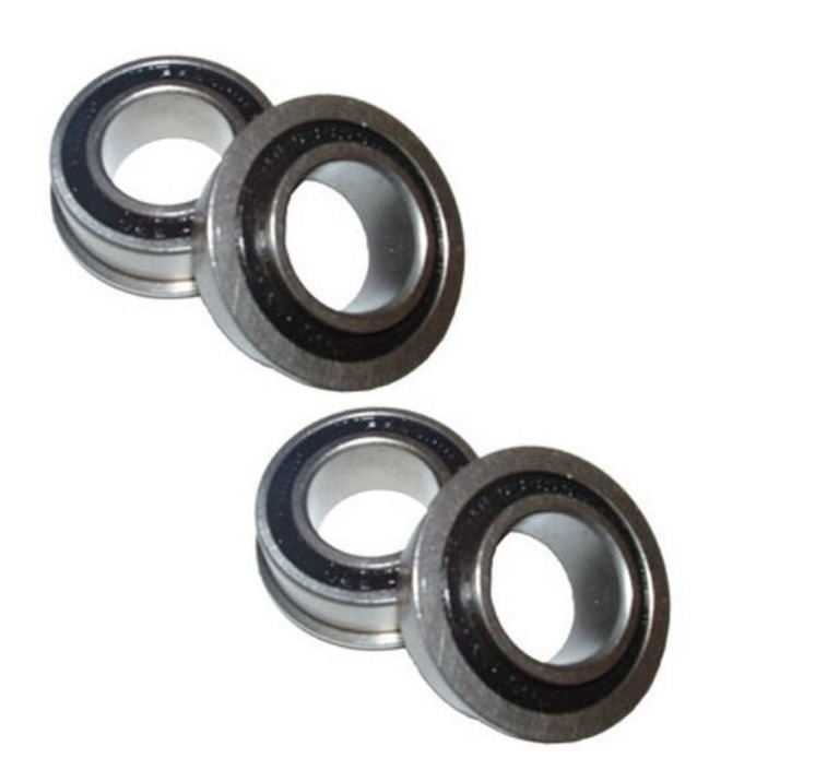 "[4] Marathon Precision Sealed Flanged Ball Bearing 1-3/8"" OD x 3/4"" ID (BB-34-Black)(Pack of 4)"