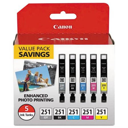 Canon Wide Format 6513B011 CLI-251 Tri-Color Ink