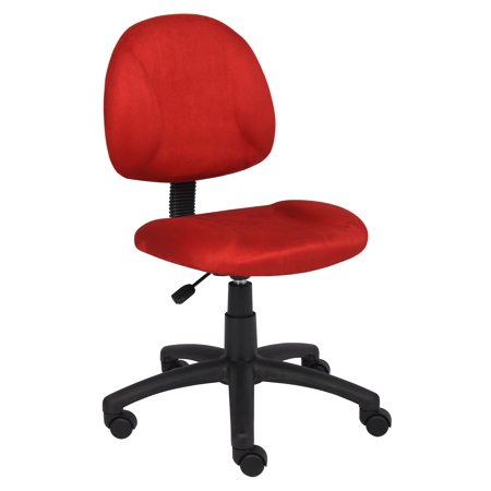 Boss Office Products Red Perfect Posture Delubye Modern Home Chair Without Arms