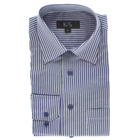 Kevin 39 s mens long sleeve purple white striped dress shirt for Purple striped dress shirt