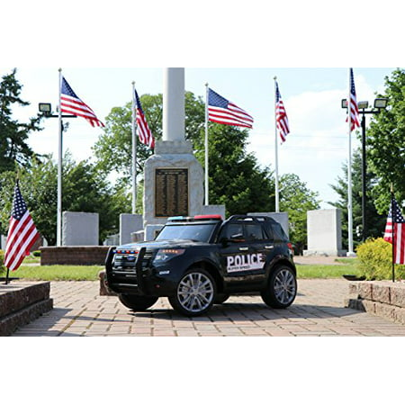 Police Cop Car SUV 12v-Dual Motor Electric Power Ride On Car with Remote Control
