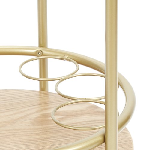 Brayden Studio Rimer Round Bar Cart