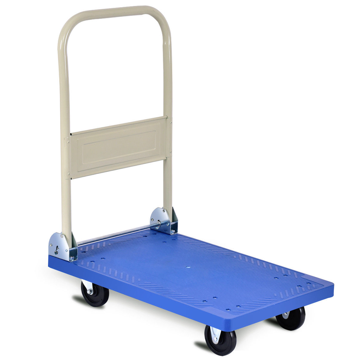 Costway 220lbs Platform Cart Folding Dolly Hand Truck Push Foldable Moving Warehouse by Costway