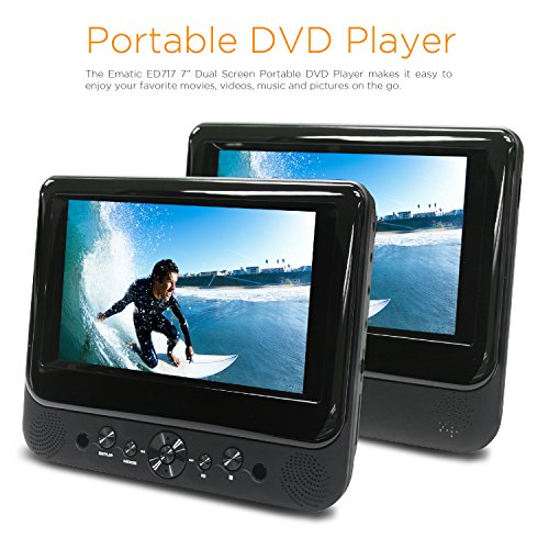 """EMATIC ED717 ; Ematic Ematic 7"""" Dual Screen DVD Player MP..."""