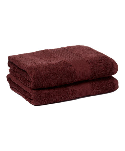 Goza Towels Cotton Bath Towels (2 Pack, 28 by 56 inches) Dark Brown by