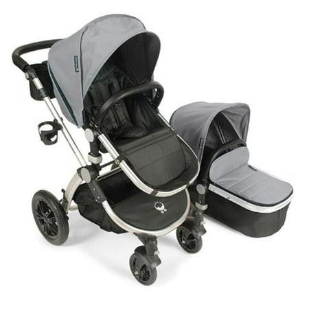 Baby Stroller Bassinet (Babyroues Letour Avant Stroller with Bassinet Silver Frame, Silver)