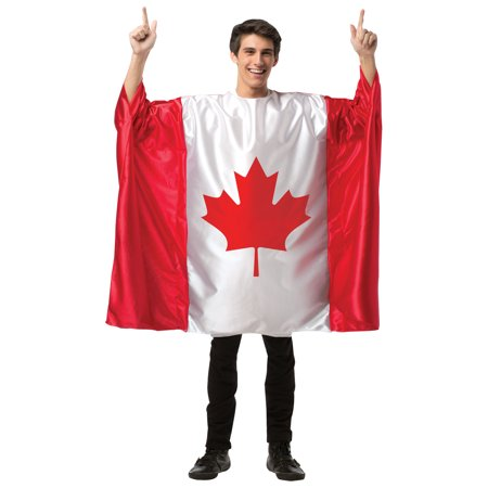 Canada Flag Tunic Men's Adult Halloween Costume, One Size, (40-46)