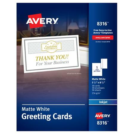 AveryR Half Fold Greeting Cards Matte 5 1 2 X 8 30 8316