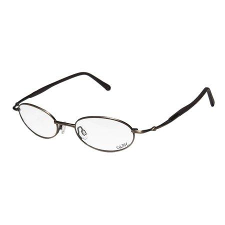 New Enjoy By Rodenstock 1722 Mens/Womens Oval Full-Rim Antique Gold / Gray Stylish Collectible Frame Demo Lenses 48-18-135 Eyeglasses/Eye (Stylish Mens Frames)