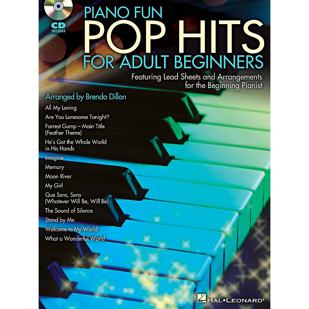 Hal Leonard Piano Fun - Pop Hits For Adult Beginners Book/CD