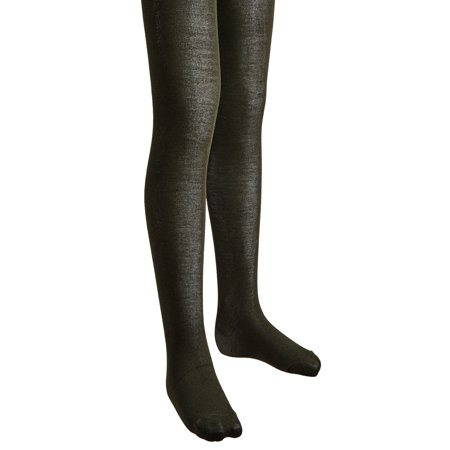 Stretch Footed Tights - Sportoli Girls Soft Bamboo Hold and Stretch Footed Winter Tights - Olive (size 12/14)