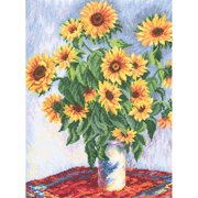Sunflowers Counted Cross Stitch Kit-10.5