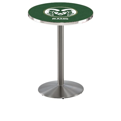 NCAA Pub Table by Holland Bar Stool, Stainless - Colorado State, 42'' - L214