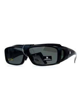 63afde4a8810 Product Image SA106 Mens Polarized Lens Flip Up 60mm Fit Over OTG  Sunglasses Shiny Black