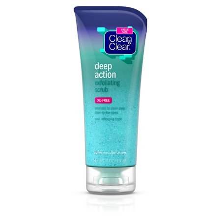 Clean & Clear Soft Scrub (Clean & Clear Oil-Free Deep Action Exfoliating Facial Scrub, 7)