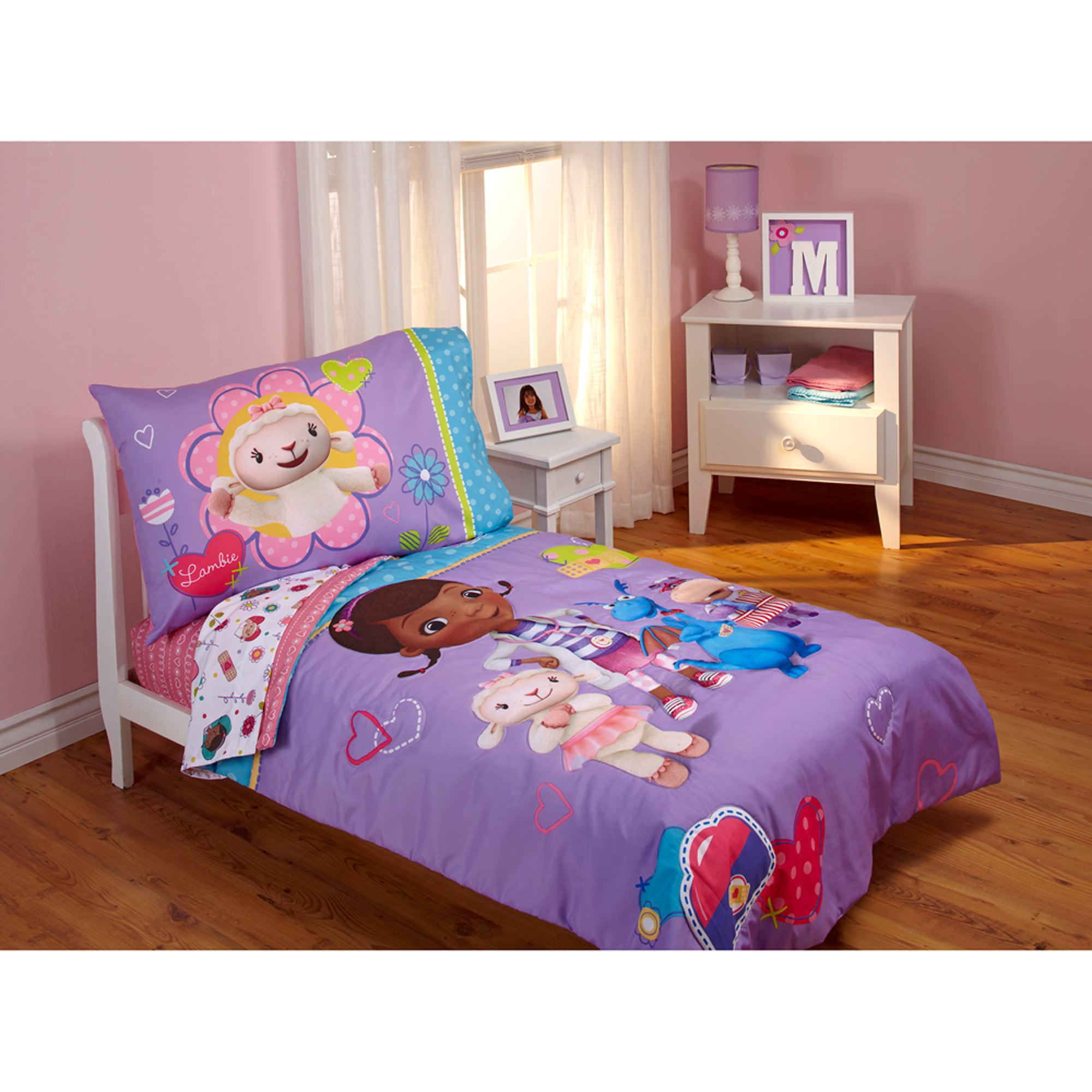 Disney Doc McStuffins Good As New 4 Piece Toddler Bedding Set   Walmart.com