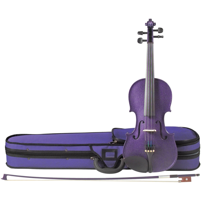 Cremona SV-75PP Premier Novice Violin Outfit Sparkling Purple 4 4 Size by Cremona