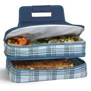 Picnic Plus Entertainer Varsity Plaid Hot and Cold Food Cooler Carrier