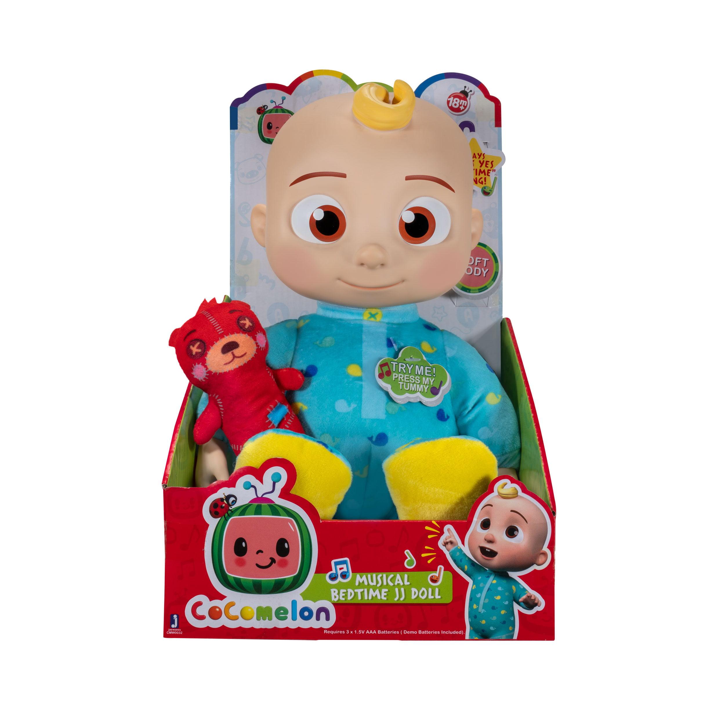 Par Toy Co Cocomelon Plush Bedtime Jj Doll 10in With Sound Walmart Com Walmart Com