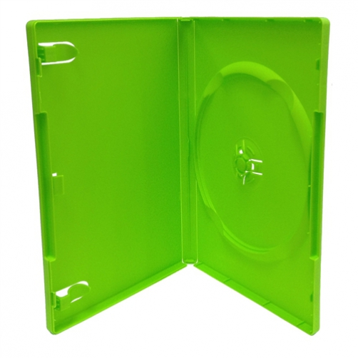 CheckOutStore 50 STANDARD Solid Green Color Single DVD Cases