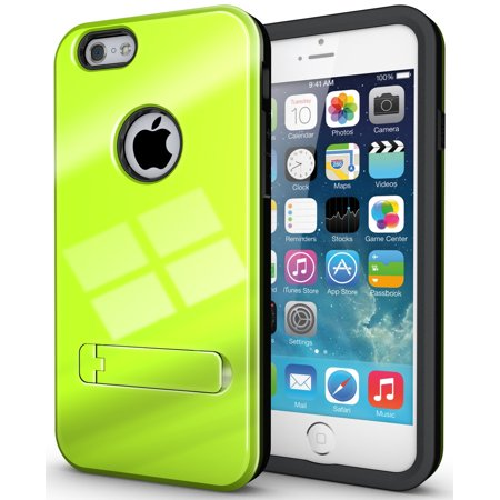 "NAKEDCELLPHONE LIME GREEN SLIM TOUGH SHIELD GLOSSY ARMOR HYBRID CASE COVER SKIN FOR APPLE iPHONE 6 (4.7"")"
