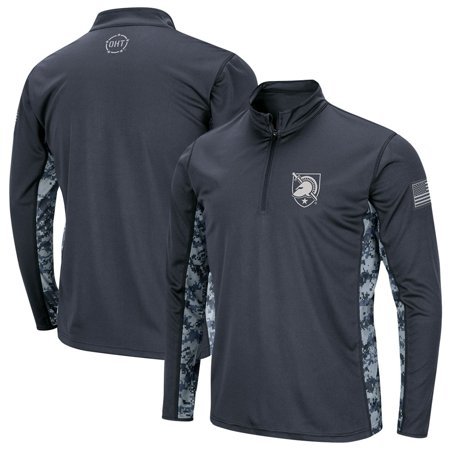 Army Black Knights Colosseum Youth OHT Military Appreciation Digital Camo Quarter-Zip Pullover Jacket - Charcoal thumbnail