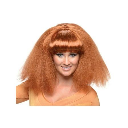 Adult Womens Brown Go Disco 70s Wavy Costume Accessory Wig](Disco Wigs)
