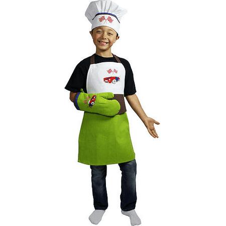 MUkitchen miniMU Child's Apron, Chef Hat and Mitt - Racing - image 1 of 1