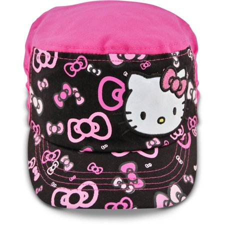 Sanrio Little Girls Hello Kitty Cadet with Satin Character Patch, Age 4-7