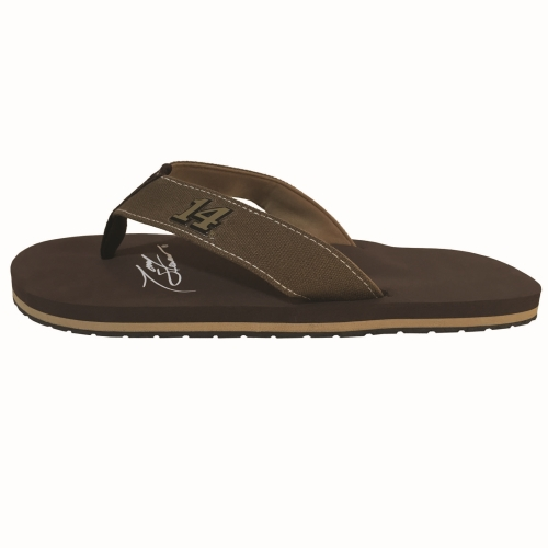 Men's Brown Tony Stewart Caliper Flip Flops by REVO Inc