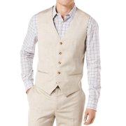 Perry Ellis NEW Beige Mens Size 2XL Button-Down Textured-Knit Vest